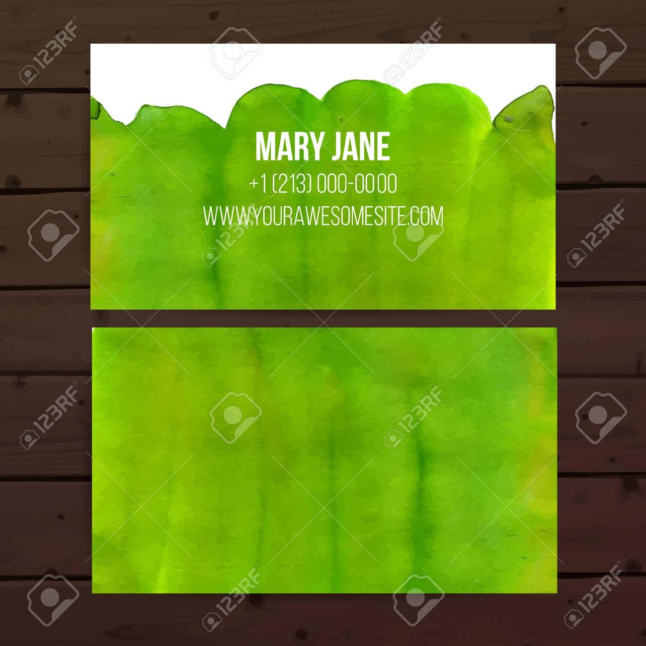 Modle De Carte Visite Avec La Peinture Sur Bois Fond Lumineux
