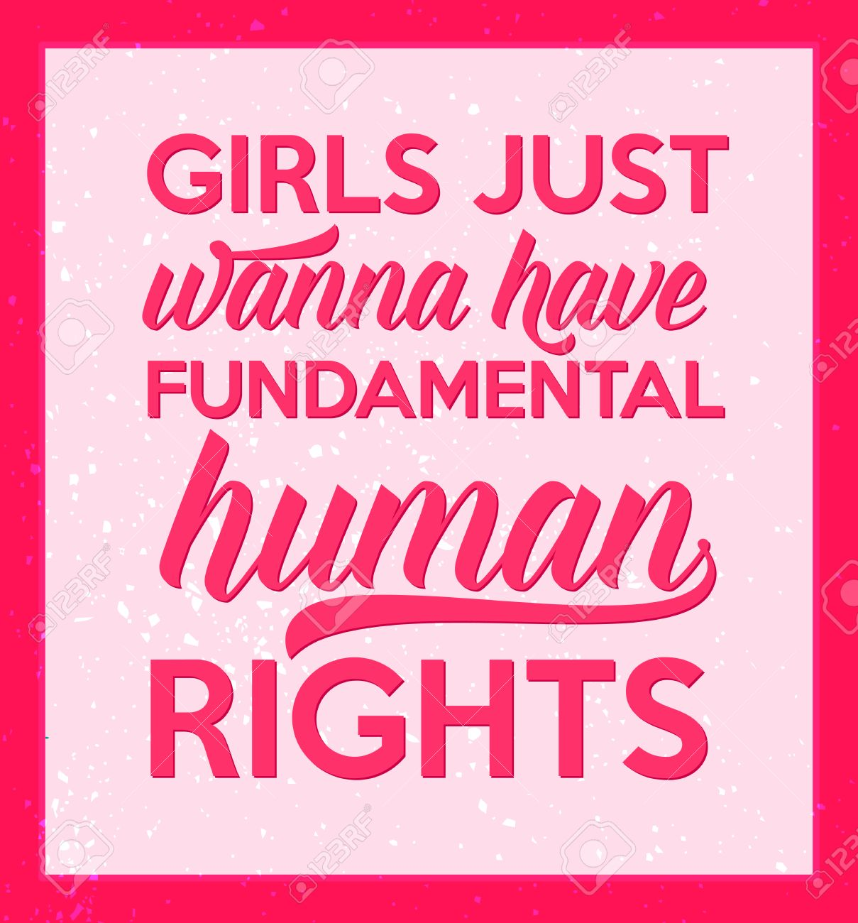 Feminism Quote Girls Just Wanna Have Fundamental Human Rights