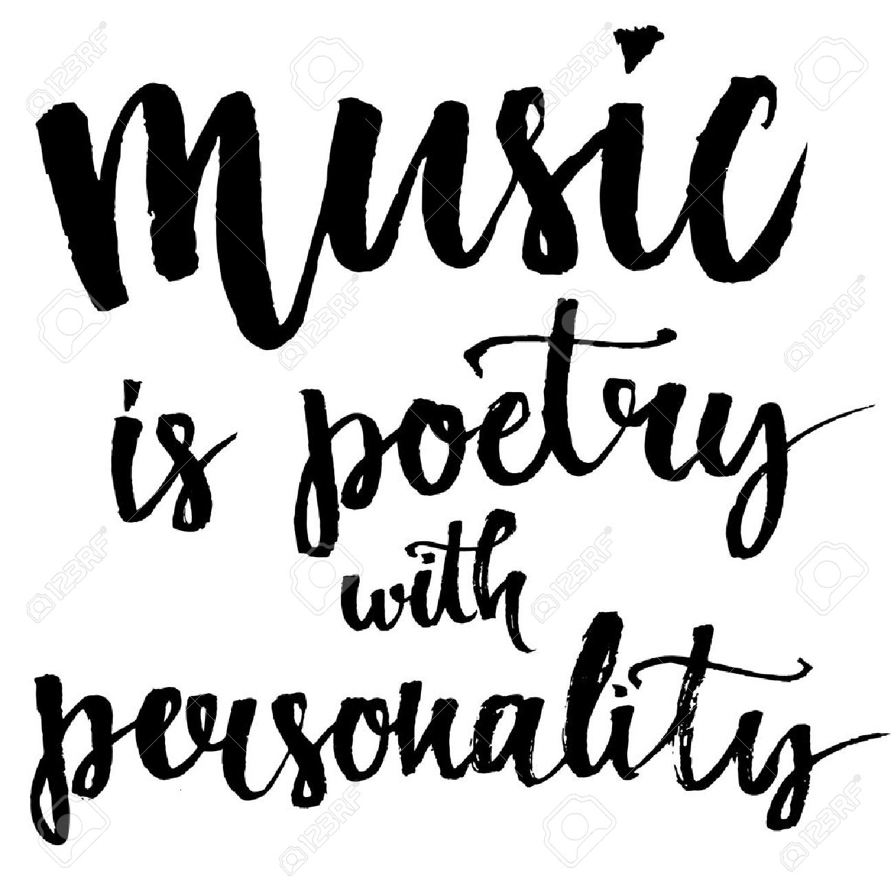 Music Is A Poetry With Personality Inspirational Quote About