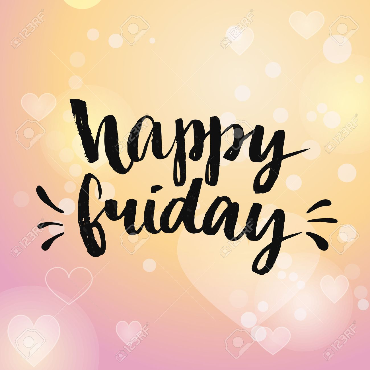 Happy friday positive quote handwritten with brush calligraphy happy friday positive quote handwritten with brush calligraphy vector typography design for cards voltagebd Images