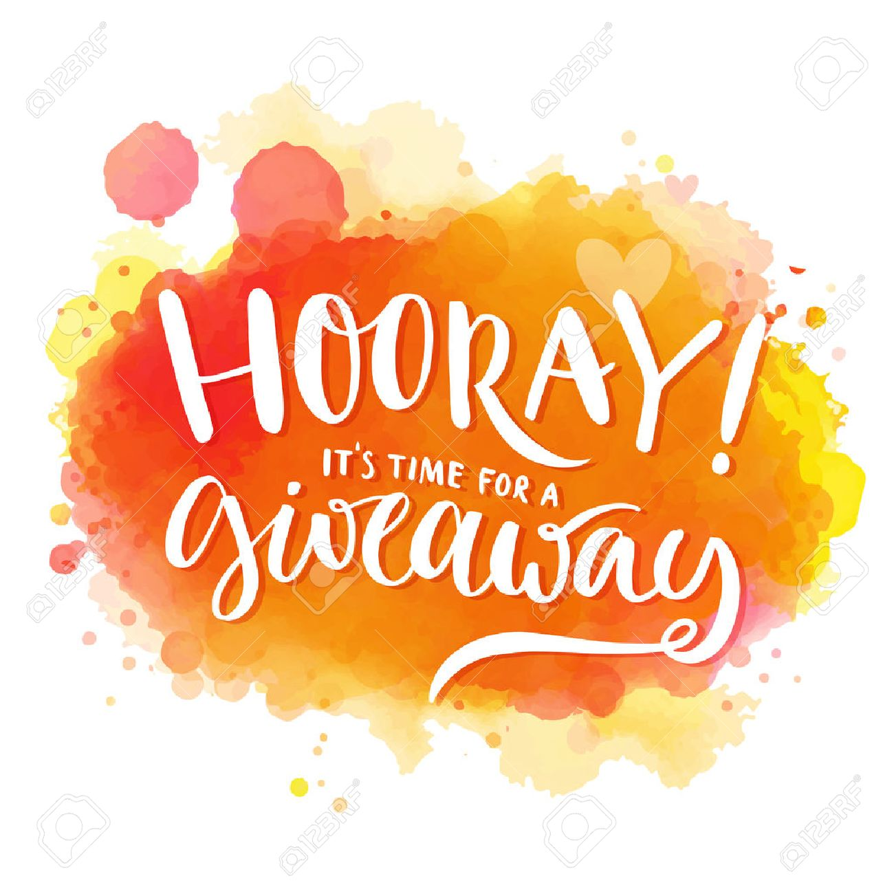 Hooray, It's Time For A Giveaway. Banner For Social Media Contests ...