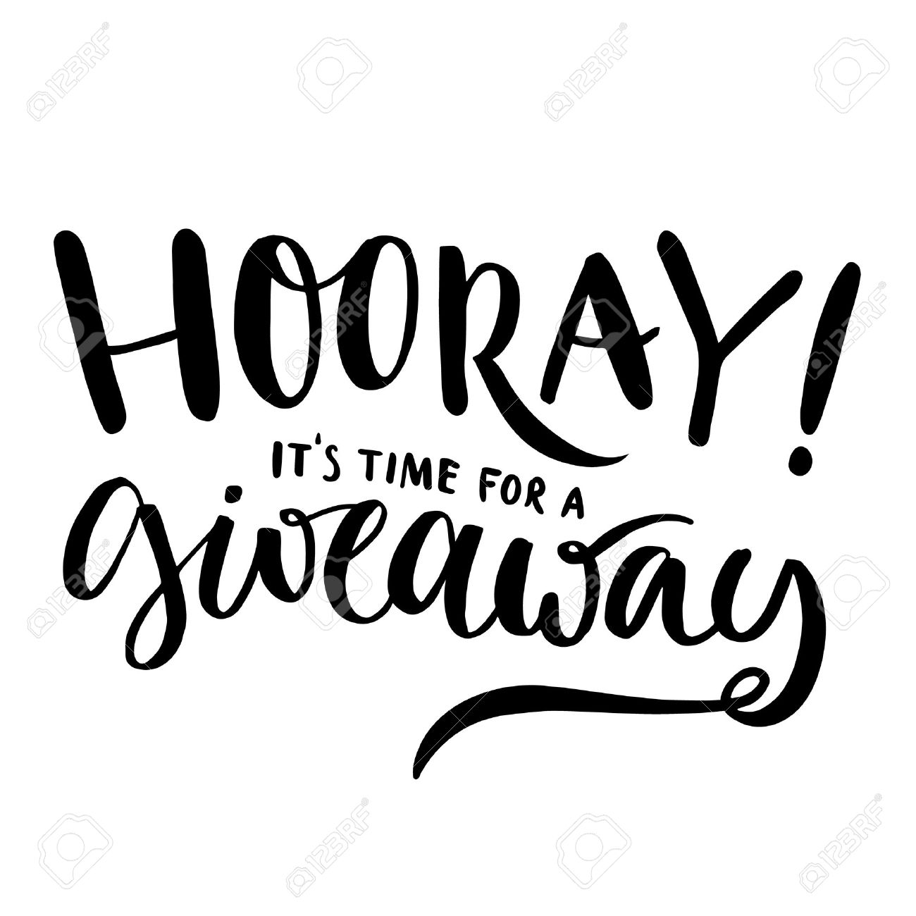 hooray it s time for giveaway promo banner for social media