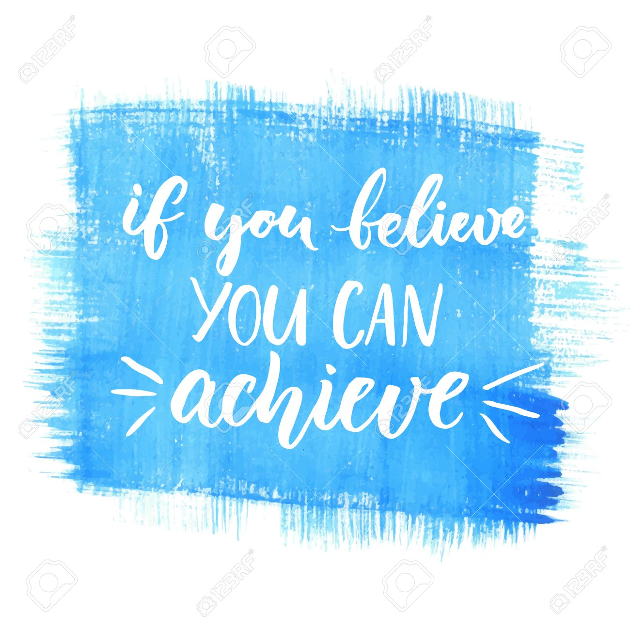 If You Can Believe You Can Achieve Inspirational Quote Black