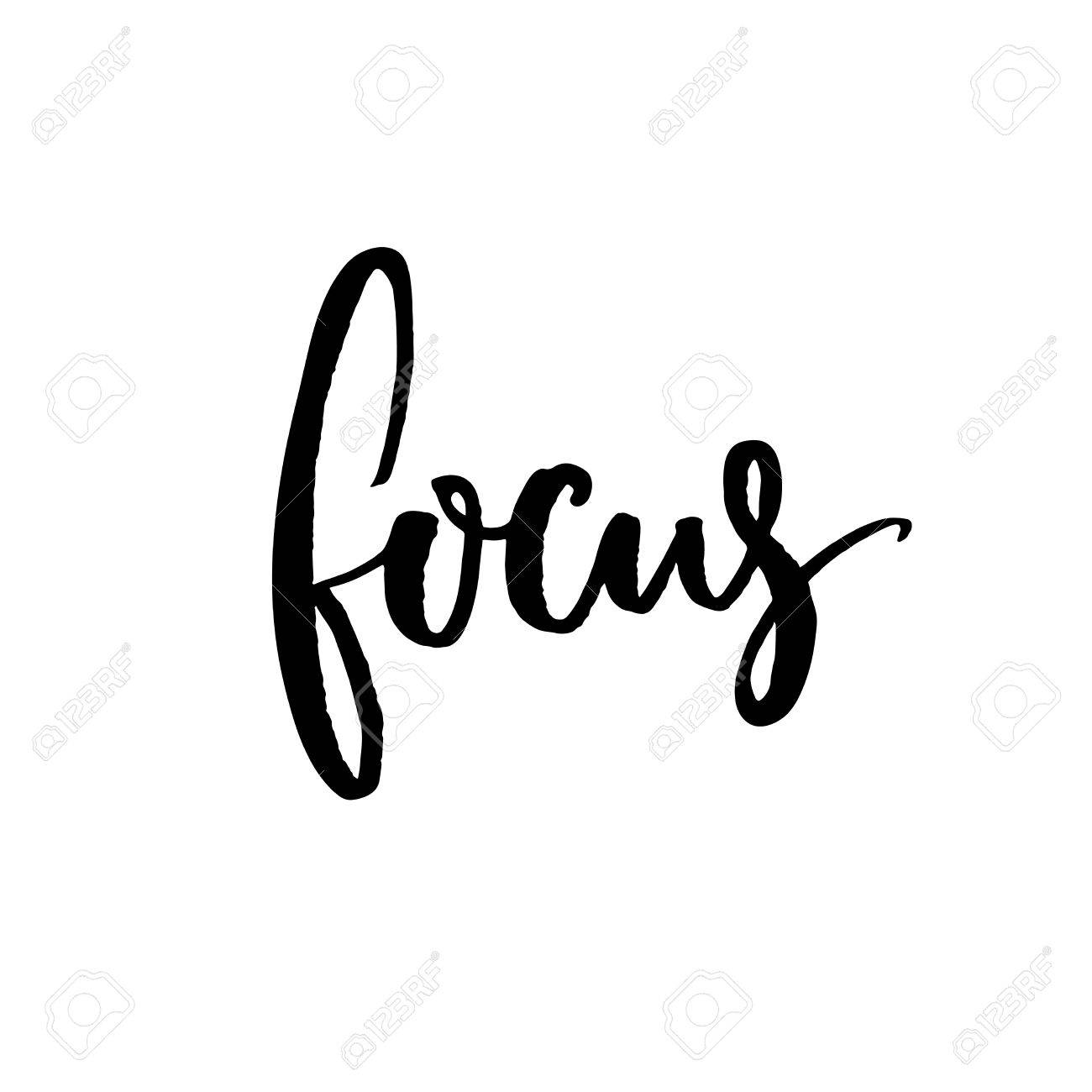 Focus  Minimalistic design about concentration and work  Vector