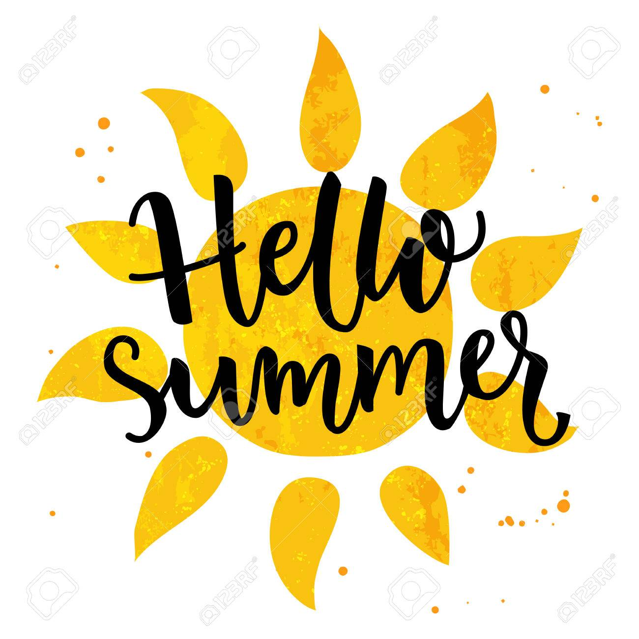 hello summer banner typography poster with sun and lettering rh 123rf com Chalk Black and White Vector Free Chalk Alphabet