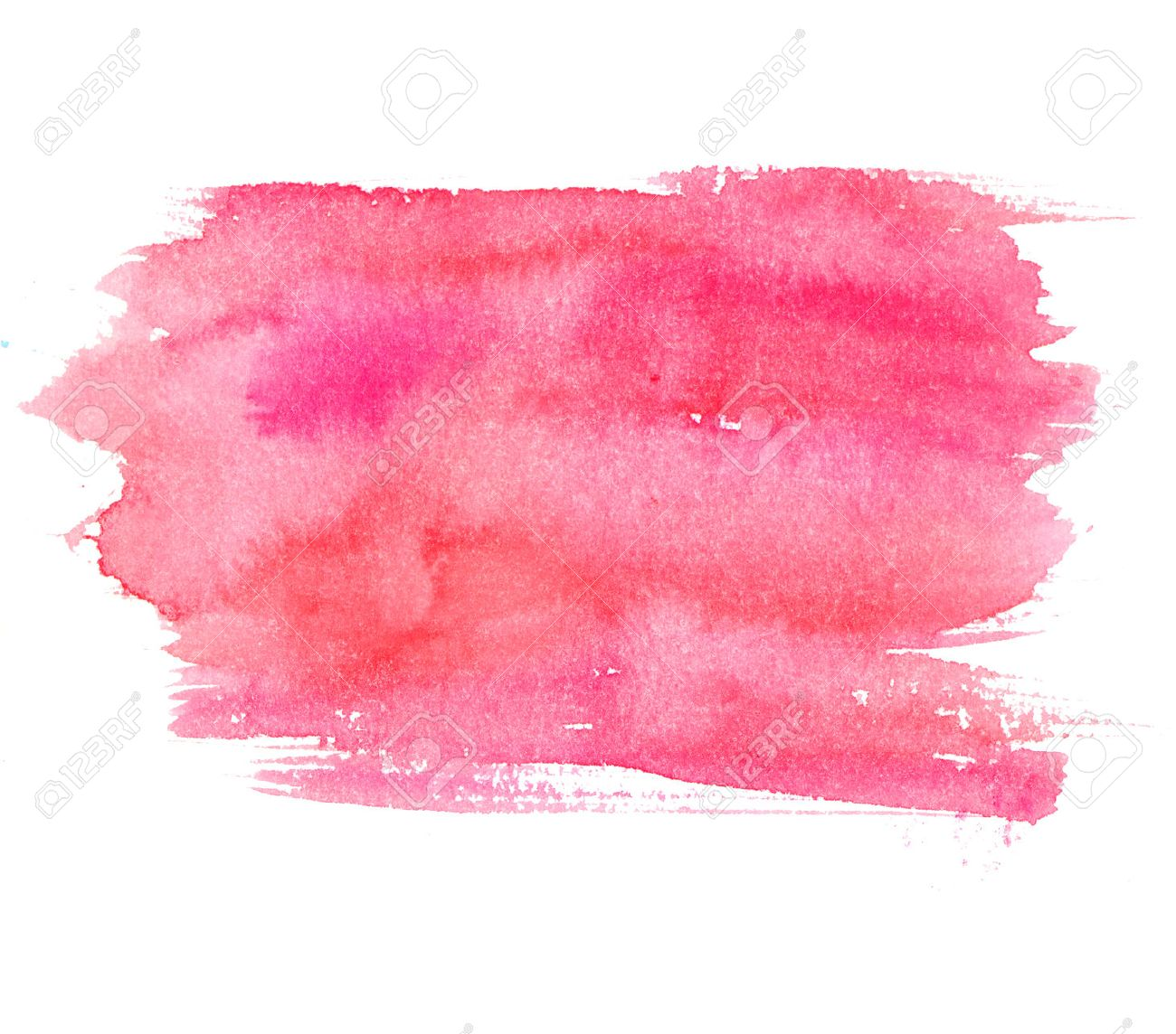 Free illustration watercolor pigment color free image - Blush On Pink Watercolor Stain Isolated On White Background Artistic Paint Texture