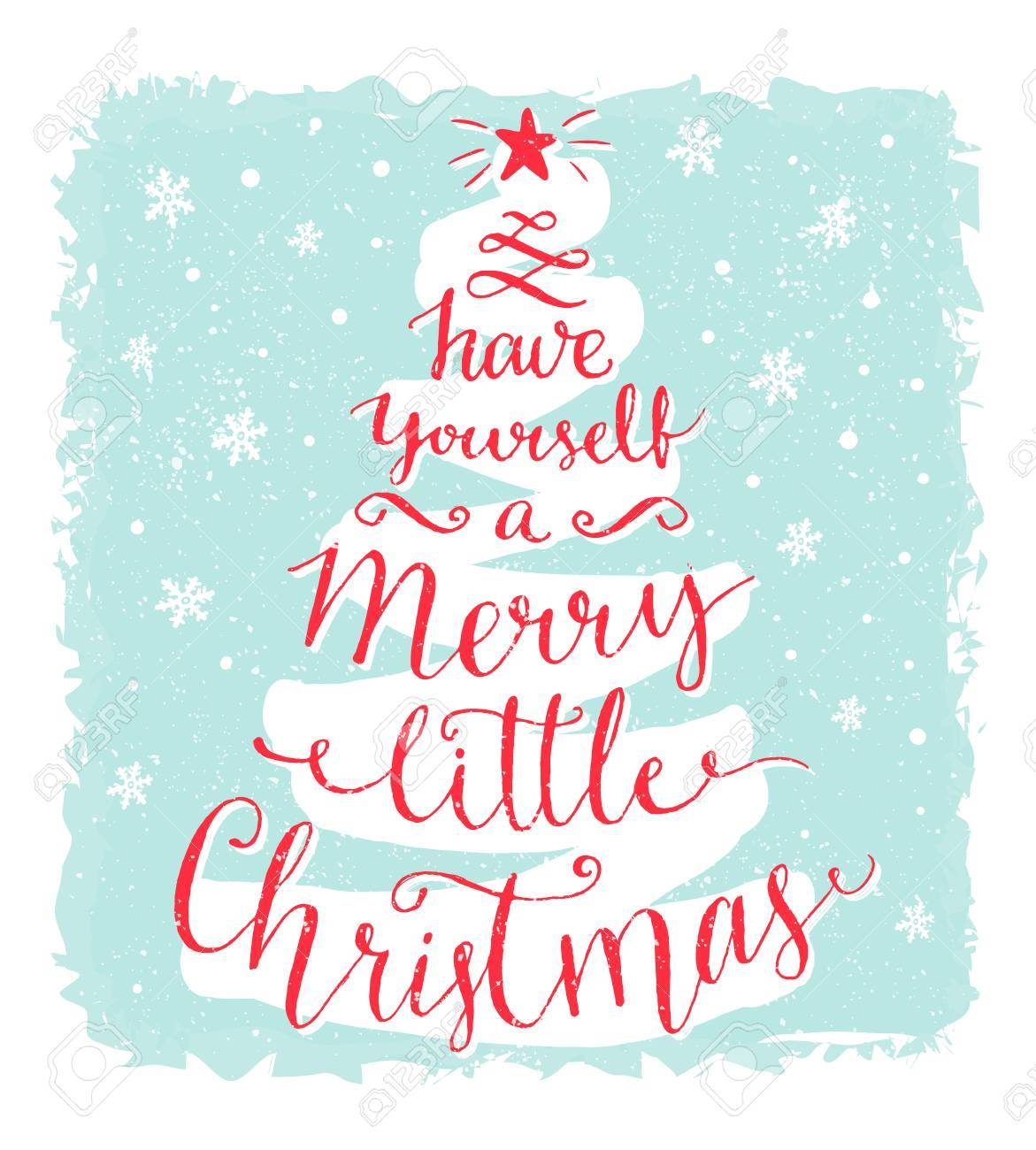 Merry Little Christmas.Have Yourself A Merry Little Christmas Greeting Card With Calligraphy