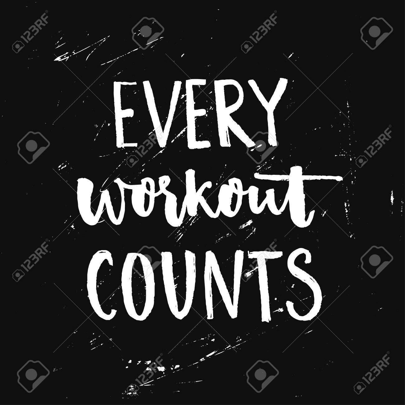 Unglaublich Sport Motivation Referenz Von Quote. Fitness Motivational Saying. Vector Typography At