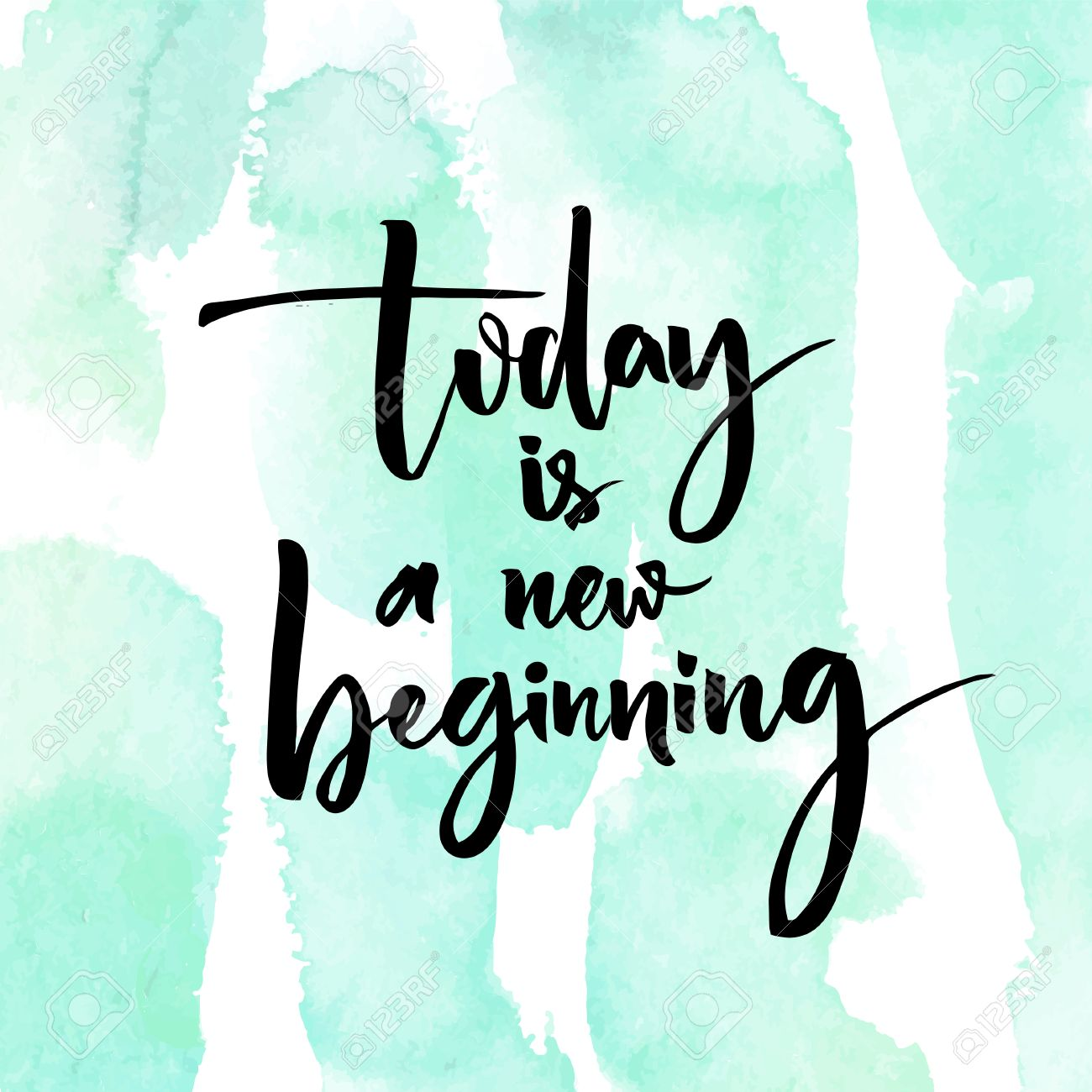 Today Is A New Beginning Inspirational Quote At Turquoise