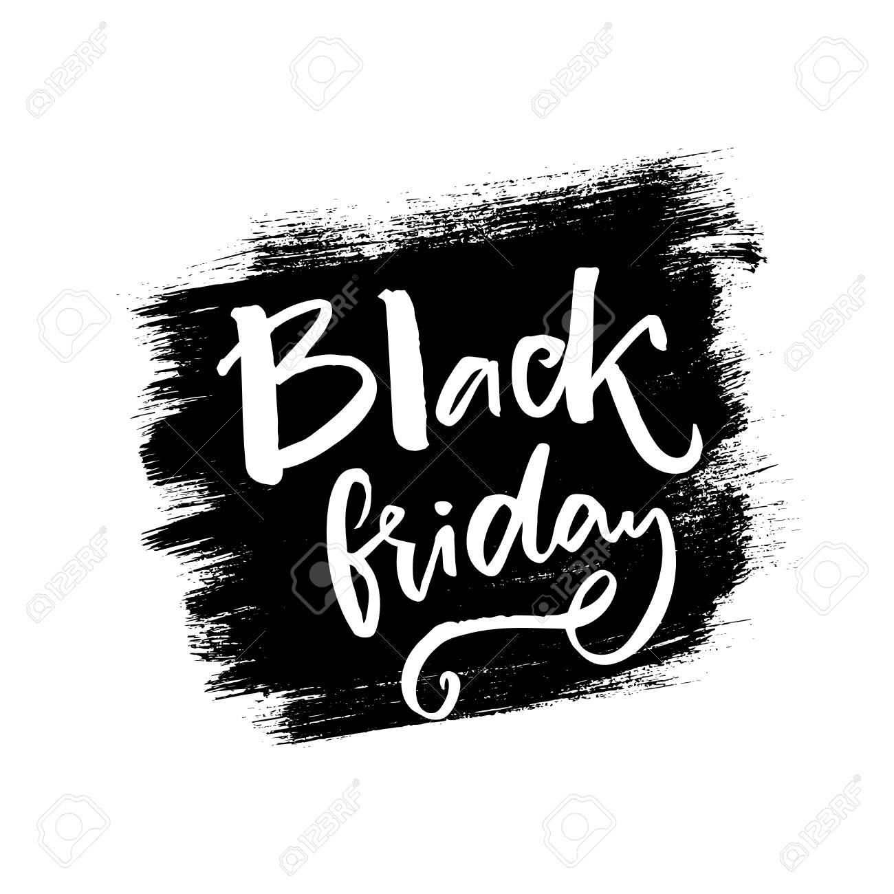 Black Friday Words On Black Ink Stain Grunge Sale Banner Vector Royalty Free Cliparts Vectors And Stock Illustration Image 68116969