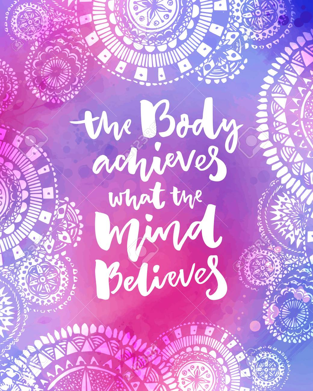 Free Mind Quote Watercolor Print Motivational Quote Therapy Inspirational Poster