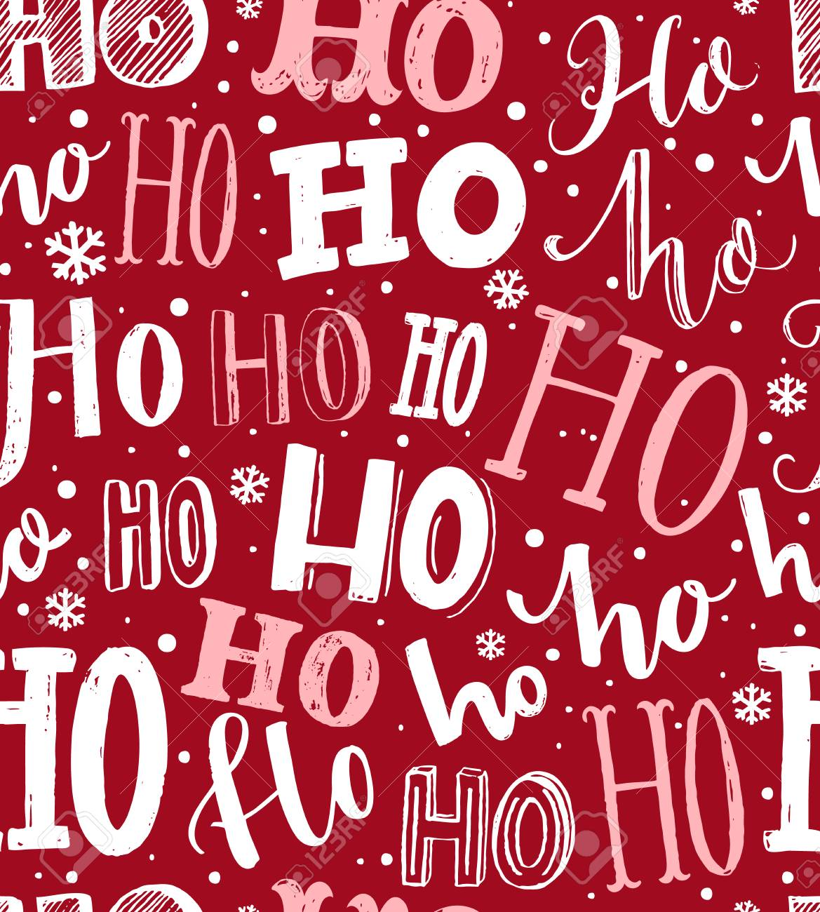Ho ho ho pattern funny christmas background for gift wrapping funny christmas background for gift wrapping white lettering and hand negle Images