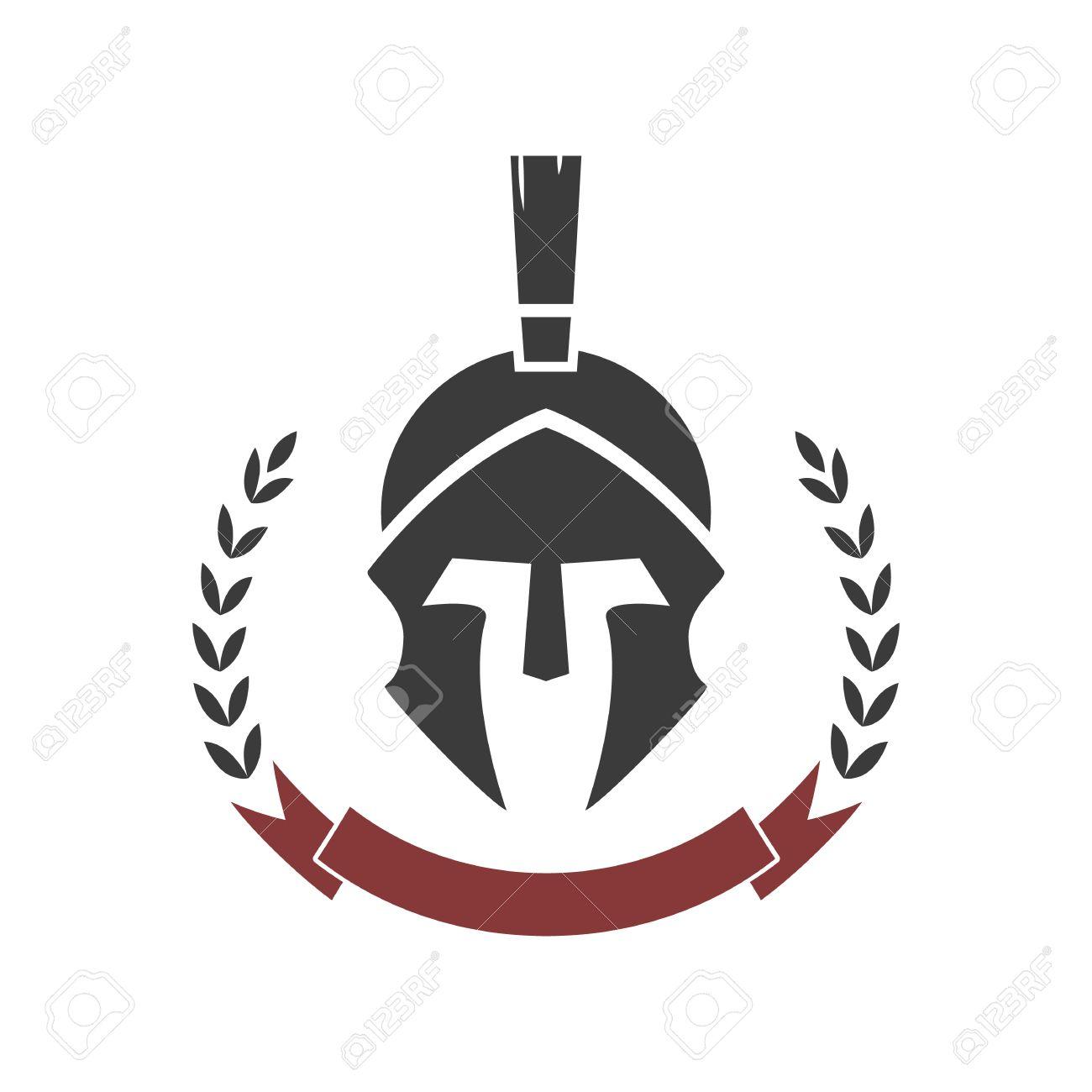 spartan helmet vector logo template royalty free cliparts vectors