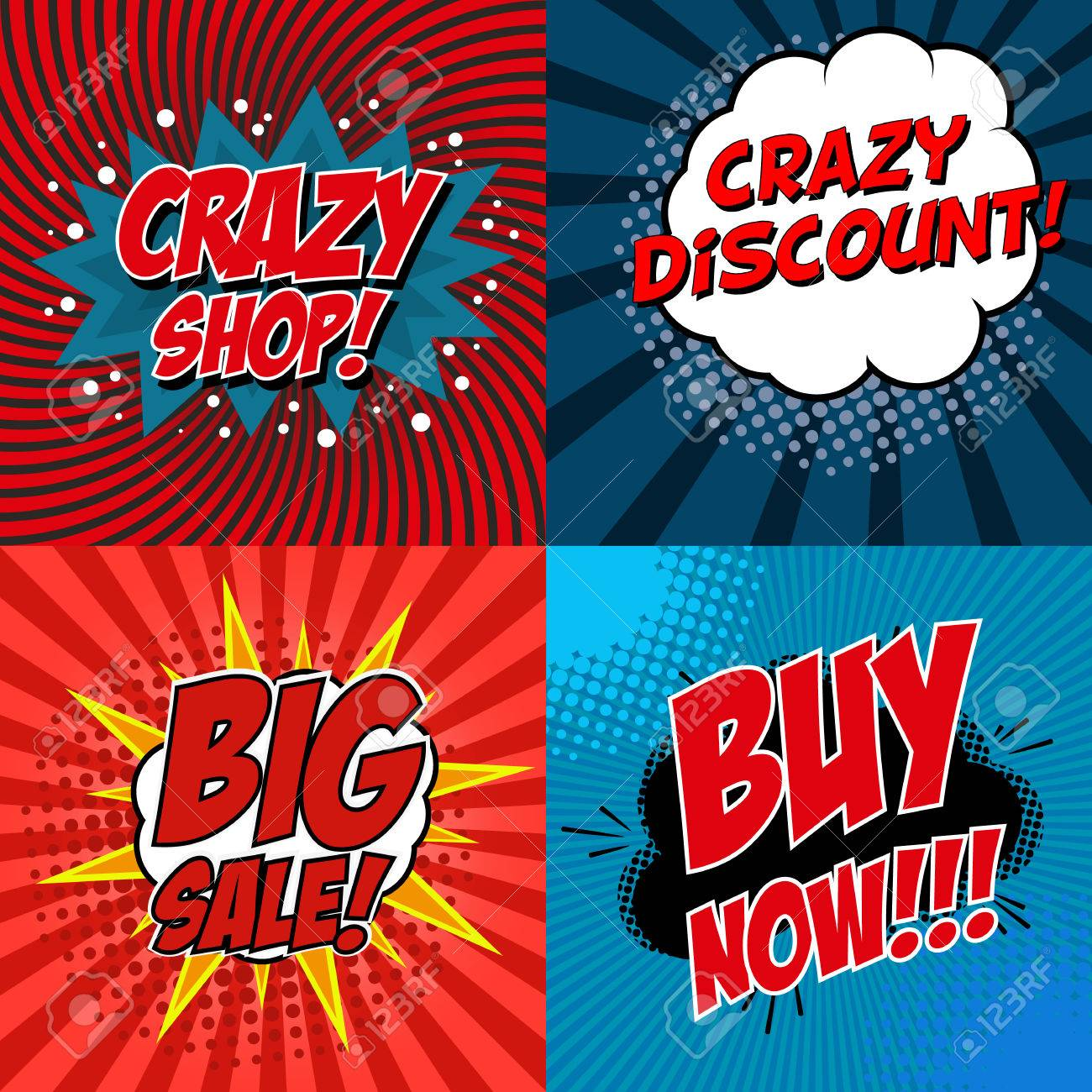 banner flyer pop art comic crazy shop crazy discount big banner flyer pop art comic crazy shop crazy discount big buy now