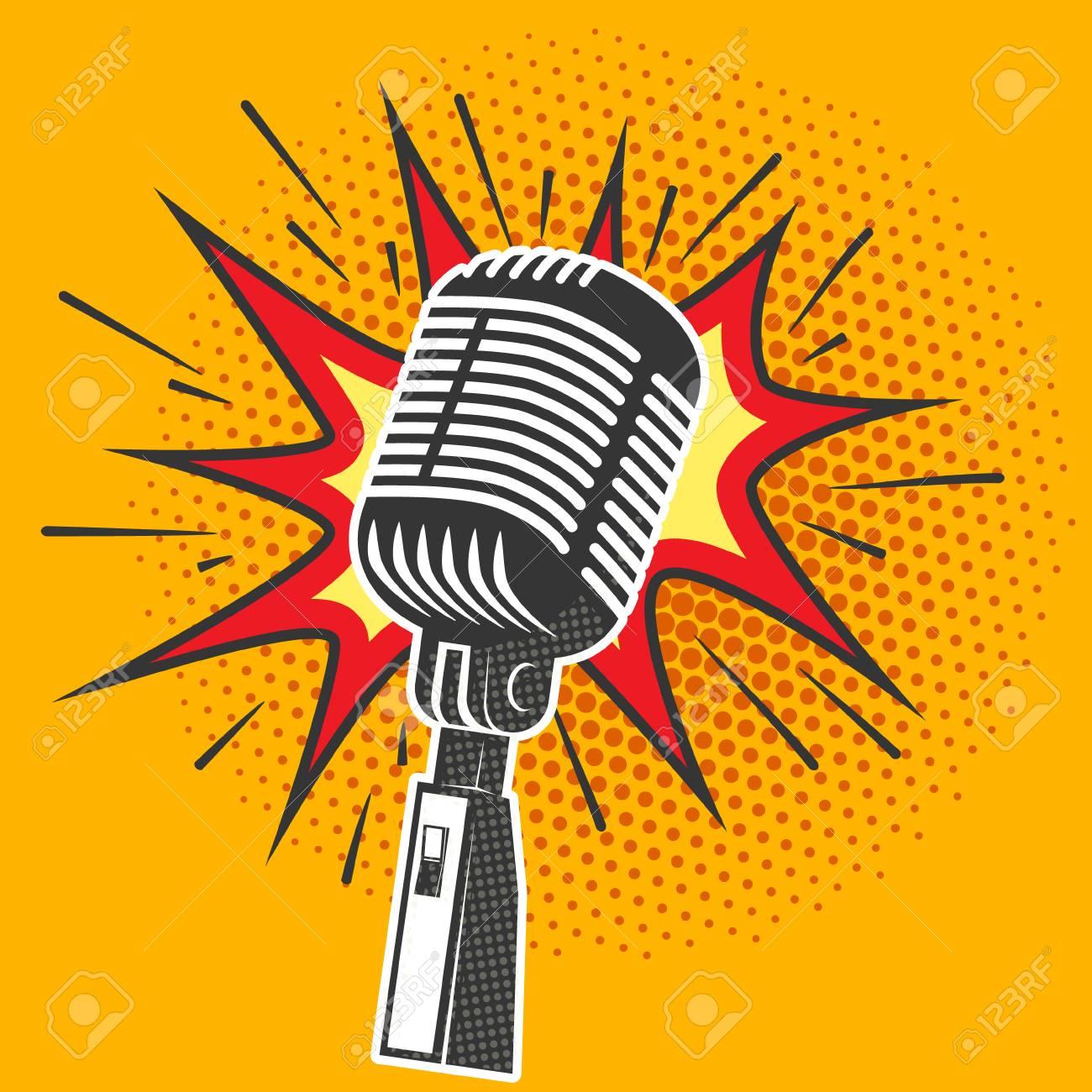 mikrofon Poster   Spreadshirt