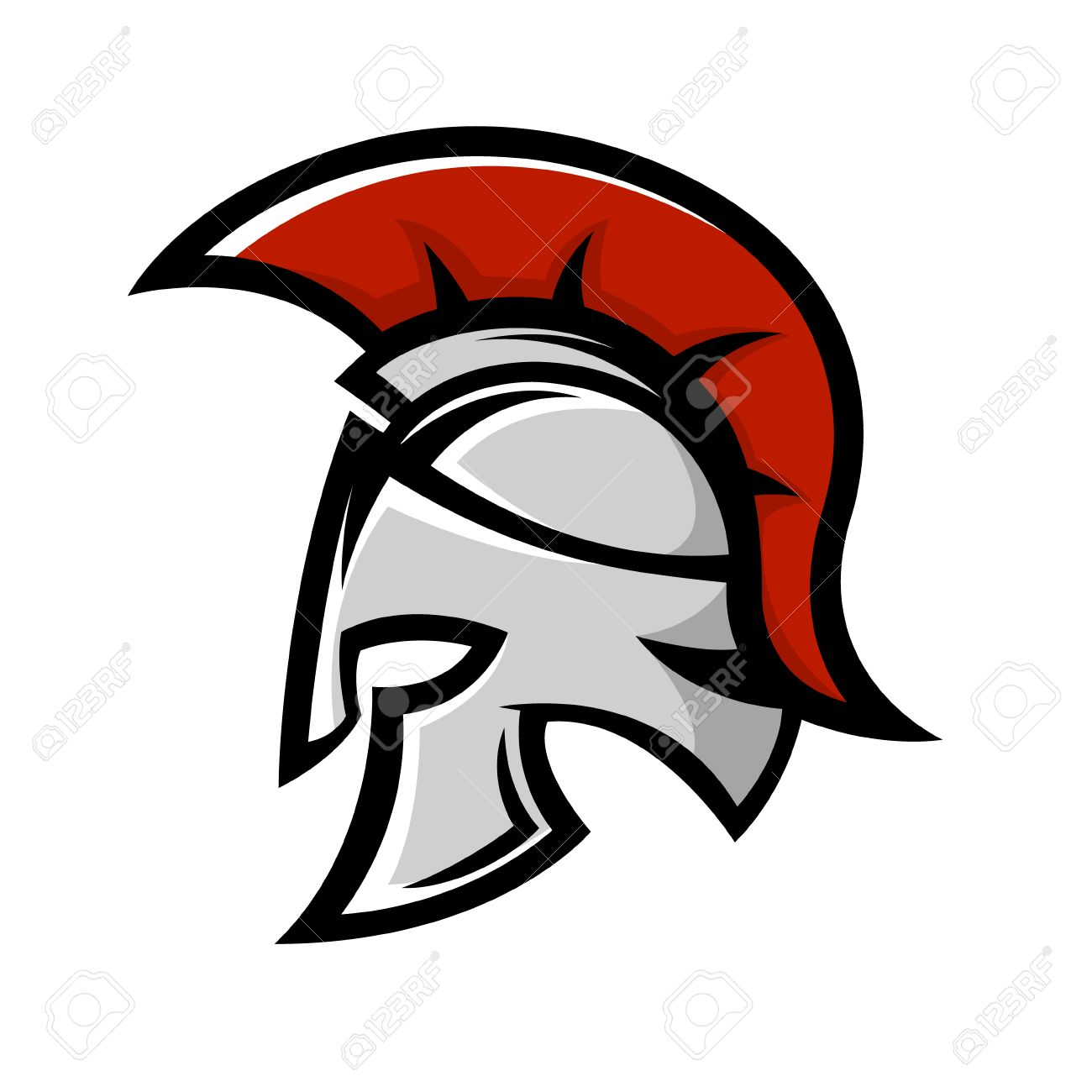 2ad8b3b01a8b7 Vector illustration. Spartan warrior helmet. Sports team emblem template.  Design element for logo, label,