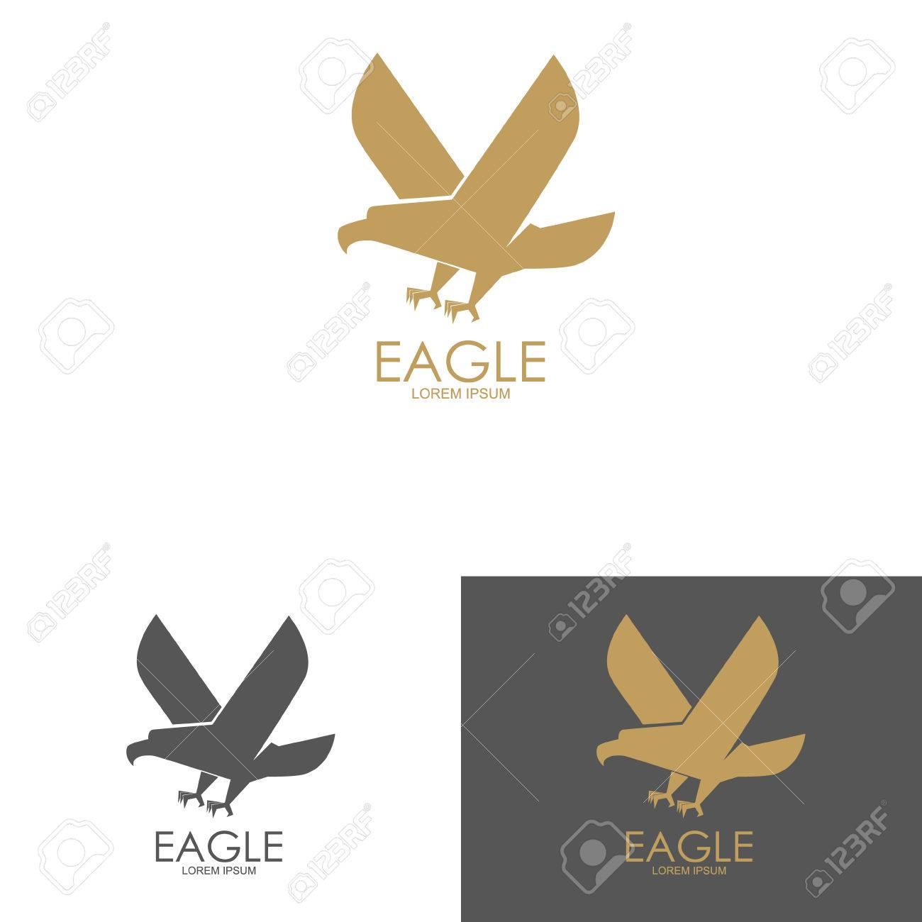 Pour De Silhouette Avec Modèle Élément Design Une Logo D'aigle awgxd8Bq
