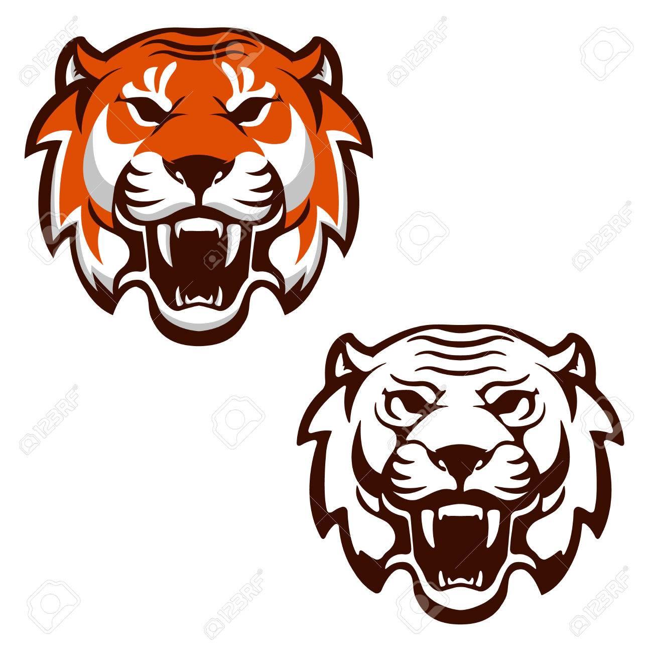 Ensemble de ttes de tigre sport quipe mascotte lment de design sport quipe mascotte lment de design pour le logo ltiquette emblme signe marque de marque vector illustration thecheapjerseys Images