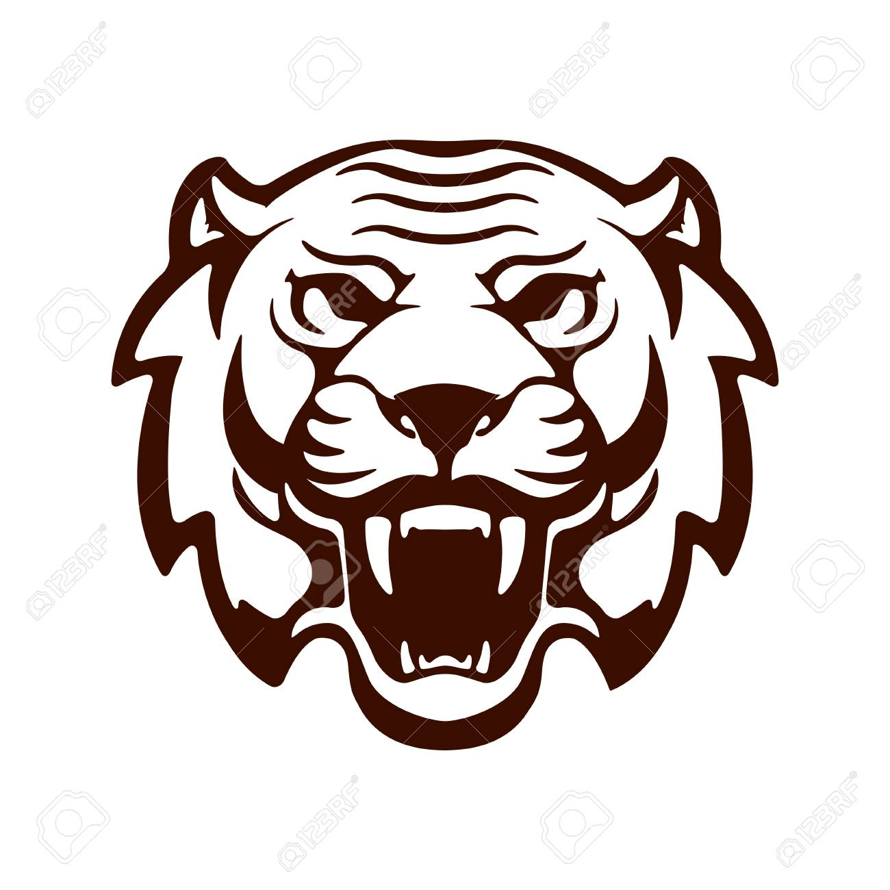 tiger head design element for logo label emblem sign vector rh 123rf com tiger head logo png tiger head logo design