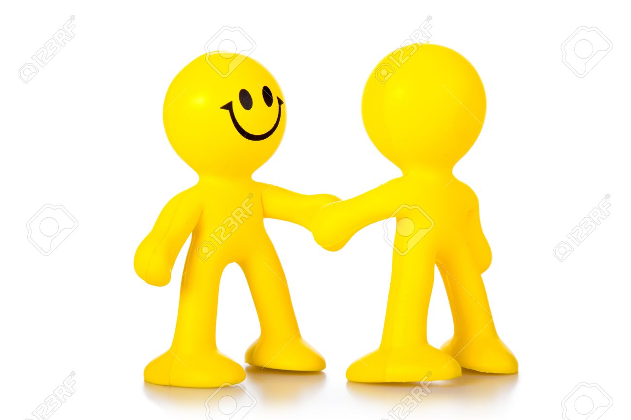 Hand shake. Two persons greet, shaking each other hands Stock Photo - 12301850