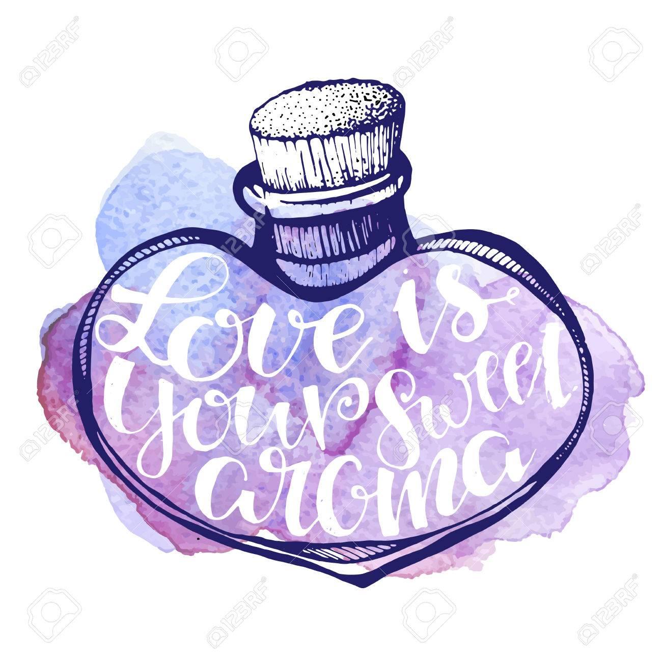 手描き文字に満ちた心の Diy 落書きイラストをベクトル愛は水彩