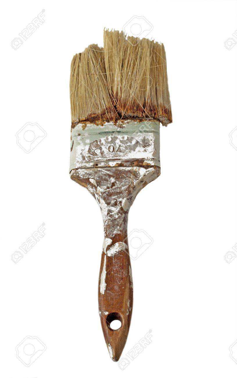 Close up of dirty, old and broken brush Stock Photo - 9613503