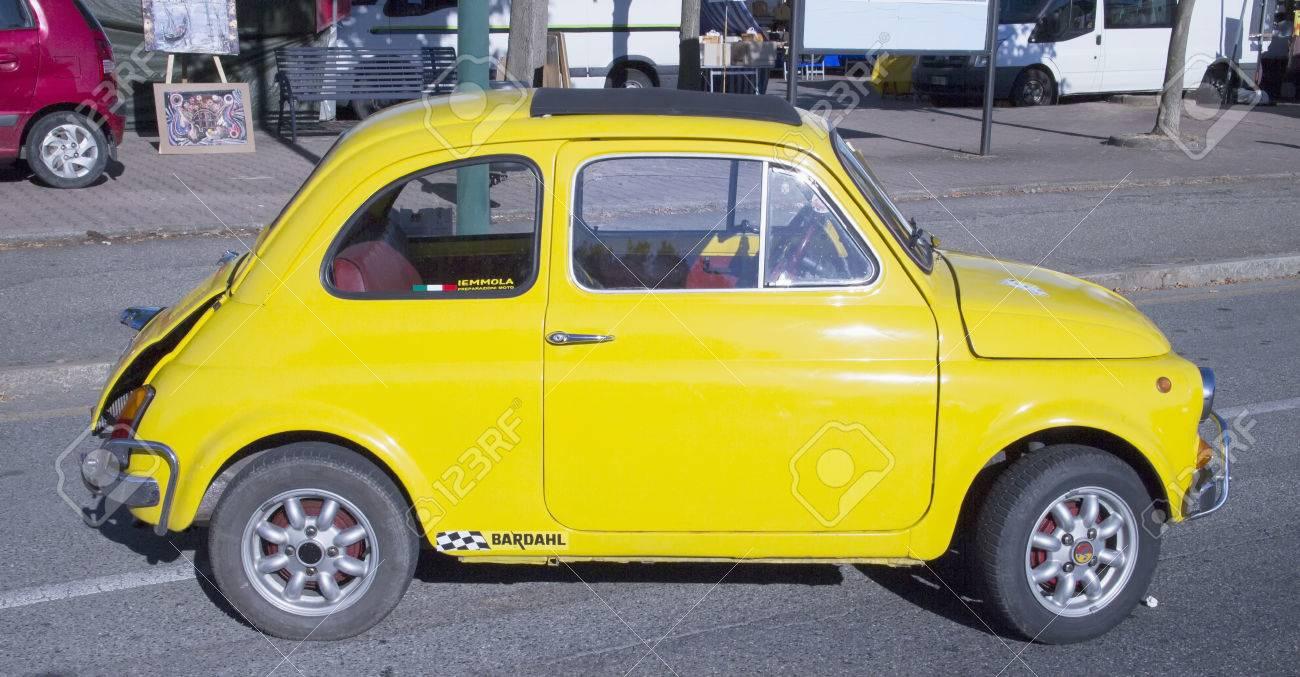 Casale Monferrato June 29 2015 Fiat 500 Abarth Vintage Model