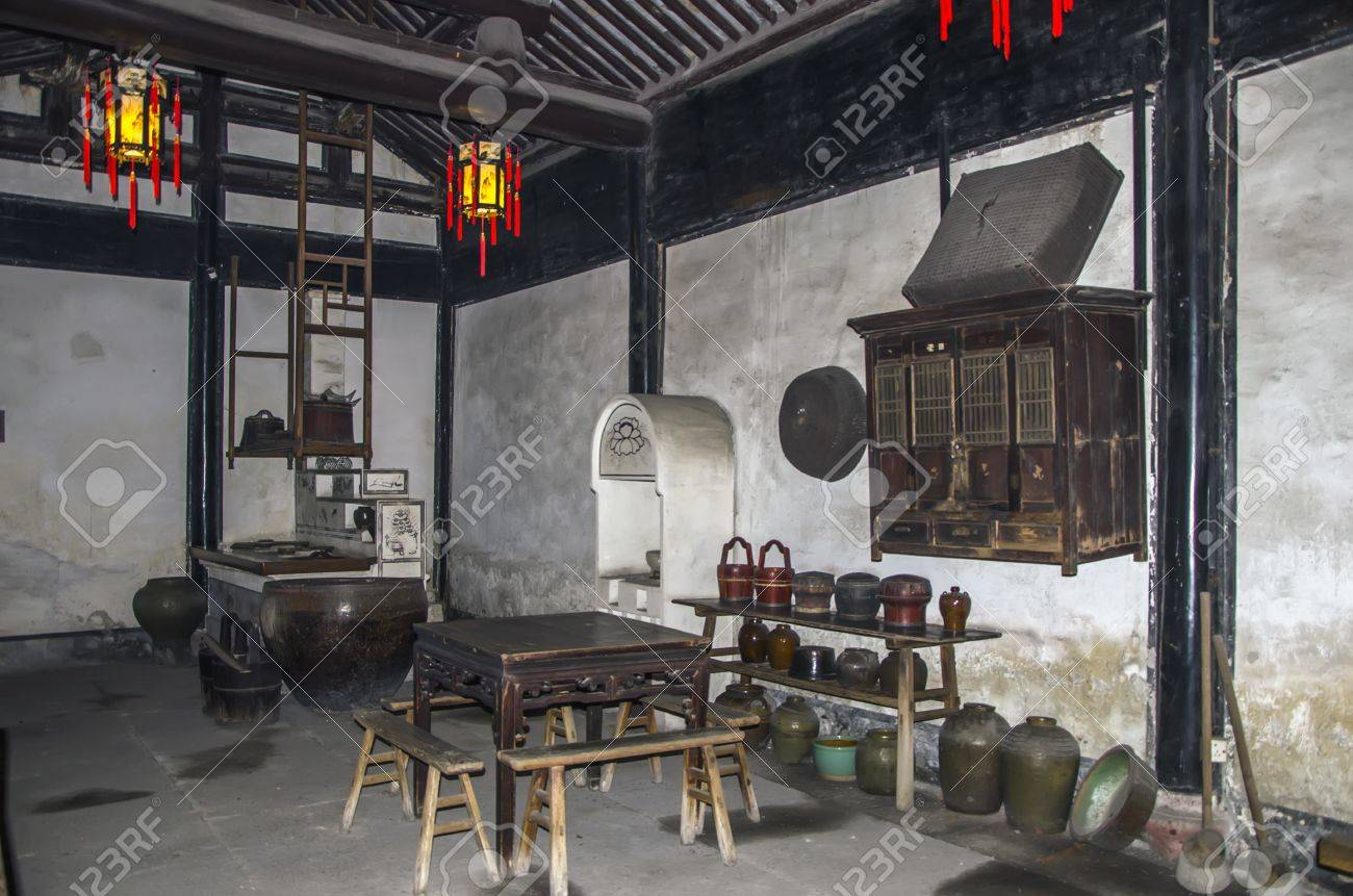 Stock Photo   Traditional Chinese Kitchen