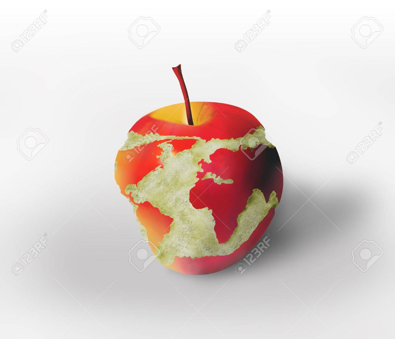 World map carved in the apple stock photo picture and royalty free stock photo world map carved in the apple gumiabroncs Gallery