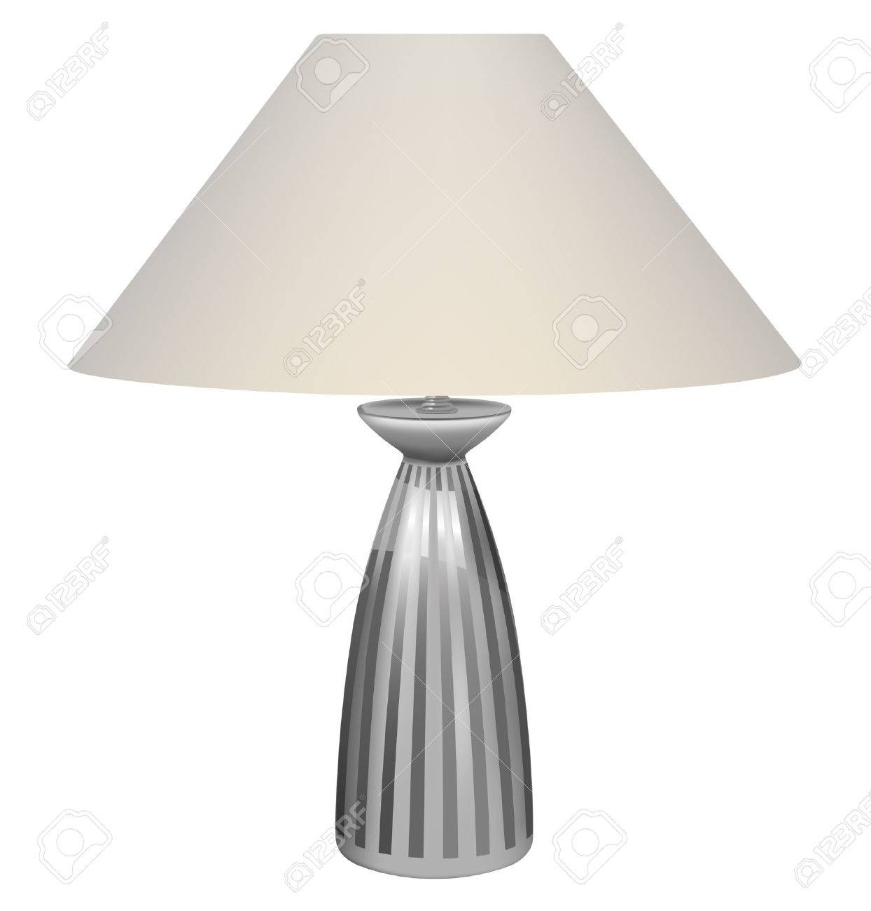 vector table lamp on white background - 7849181