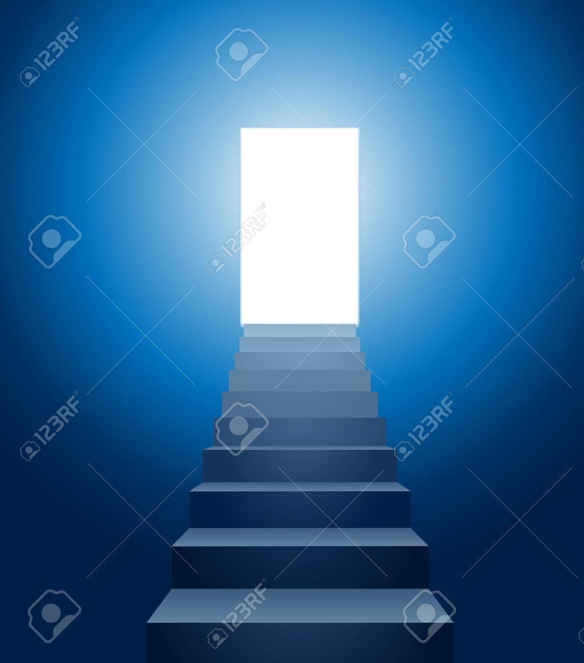 Vector Conceptual Illustration Of Stairways Leading Into The Light Stock  Vector   8949643