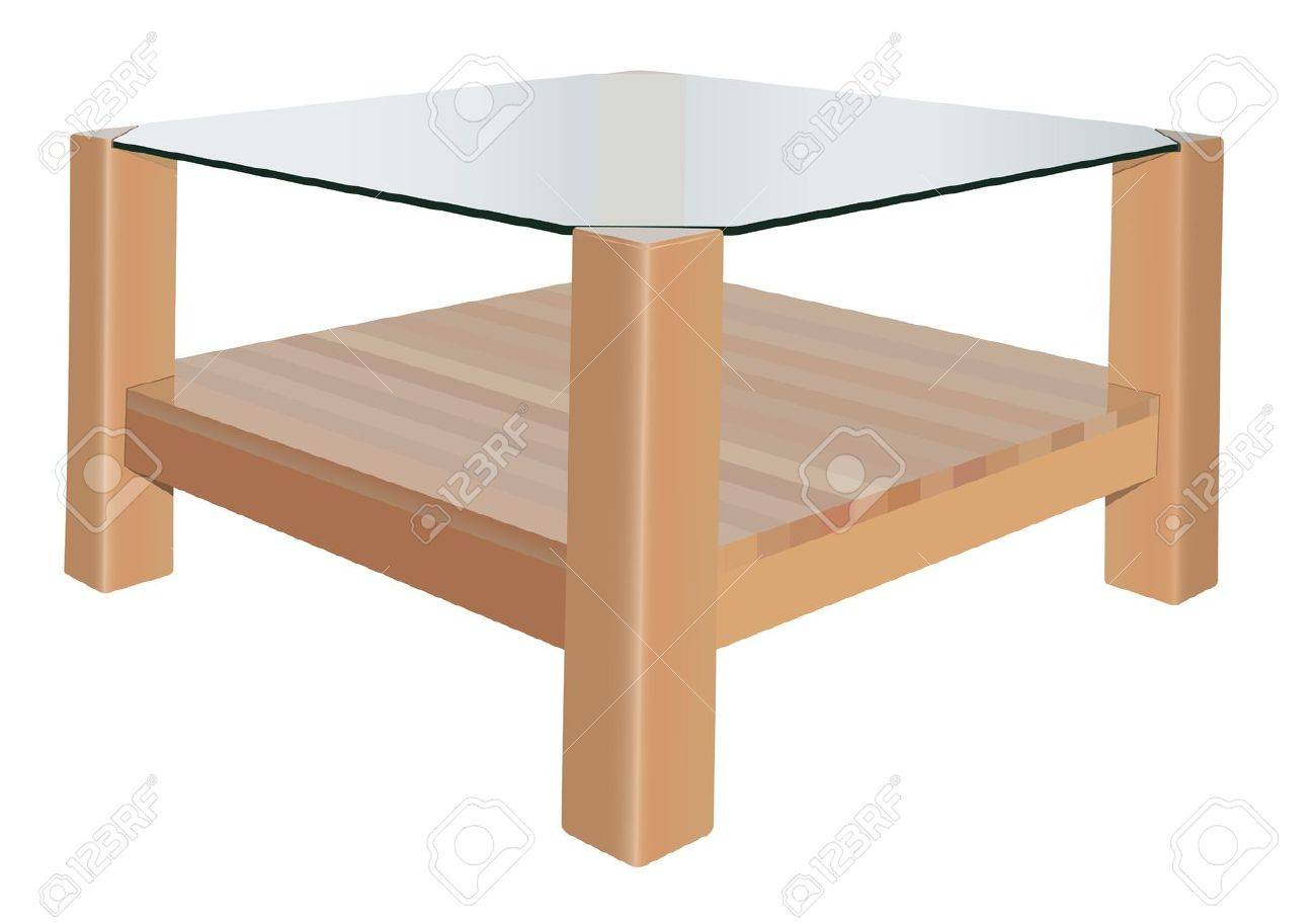 vector realistic coffee table on white background royalty free