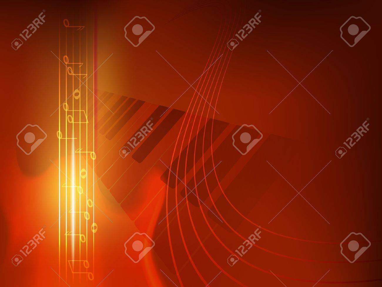 concept music background, used transparency, blending modes and gradient mesh Stock Vector - 12760344