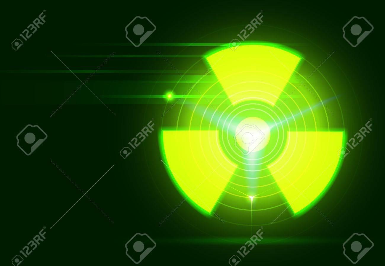 vector bio-hazard symbol on dark green background, transparency and gradient mesh used Stock Vector - 14501453