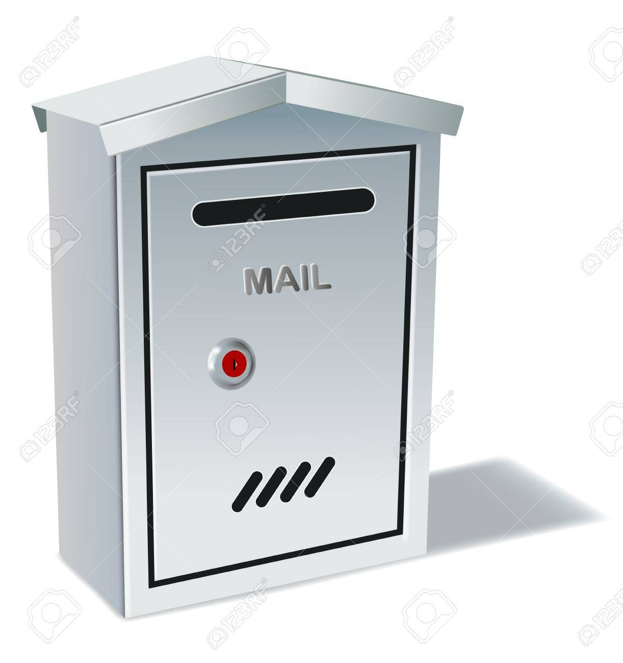 metal mailbox on white background,gradient mesh and transparency used Stock Vector - 17431581