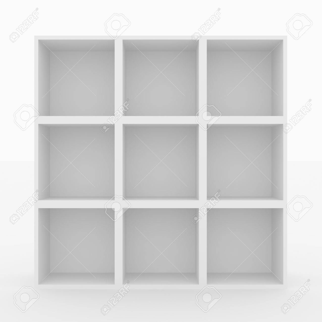 empty white bookshelf isolated on white d render image stock  - empty white bookshelf isolated on white d render image stock photo