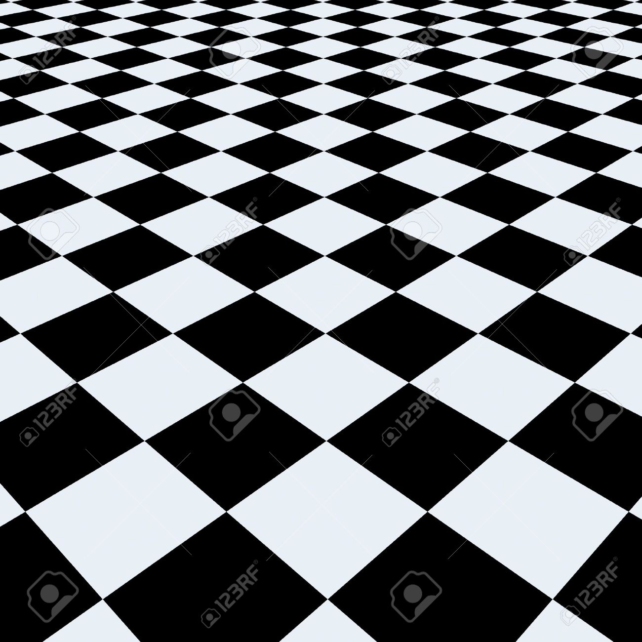 Checkerboard background. Perspective View Stock Photo - 9441359