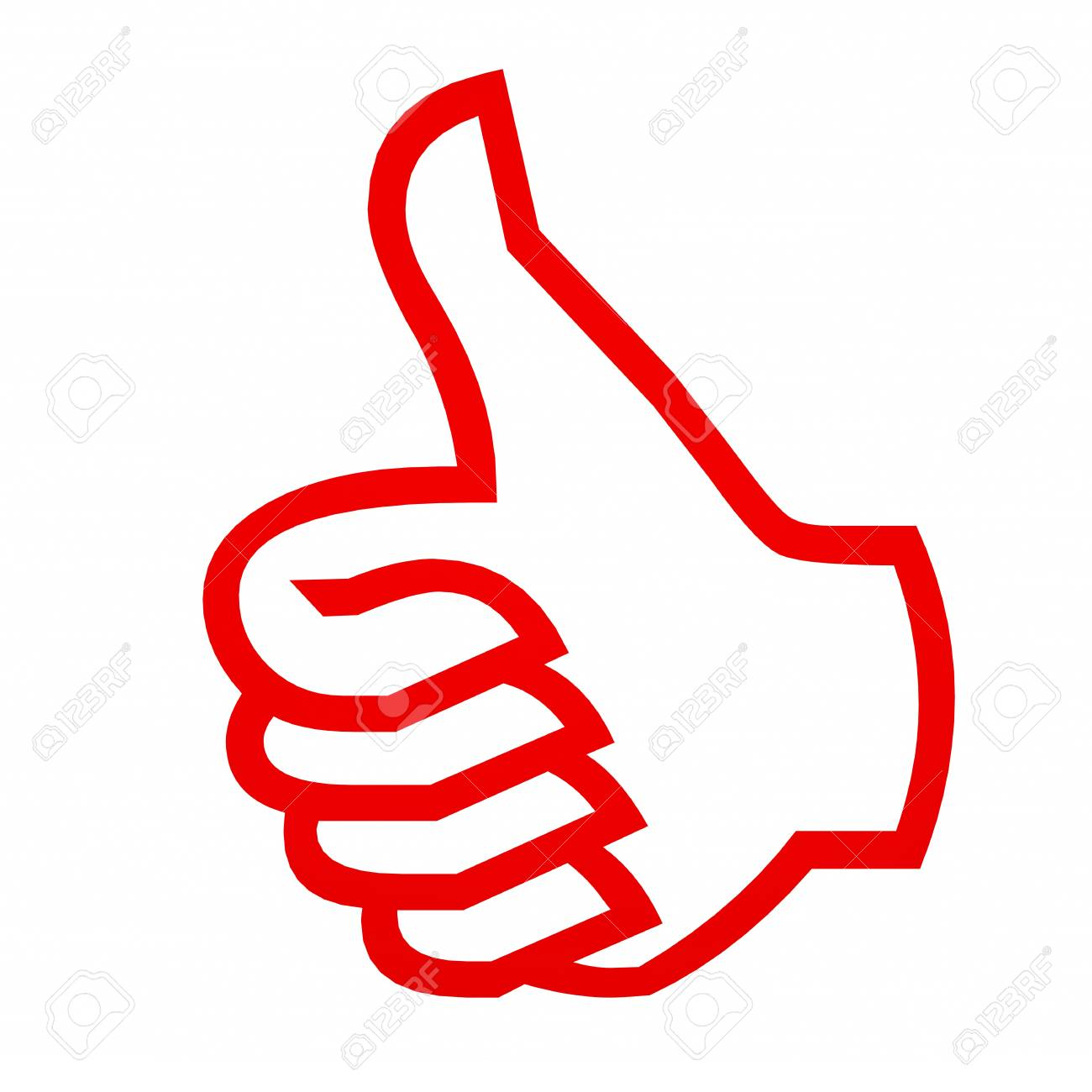 Thumbs up gesture. Computer generated image. Stock Photo - 11818145