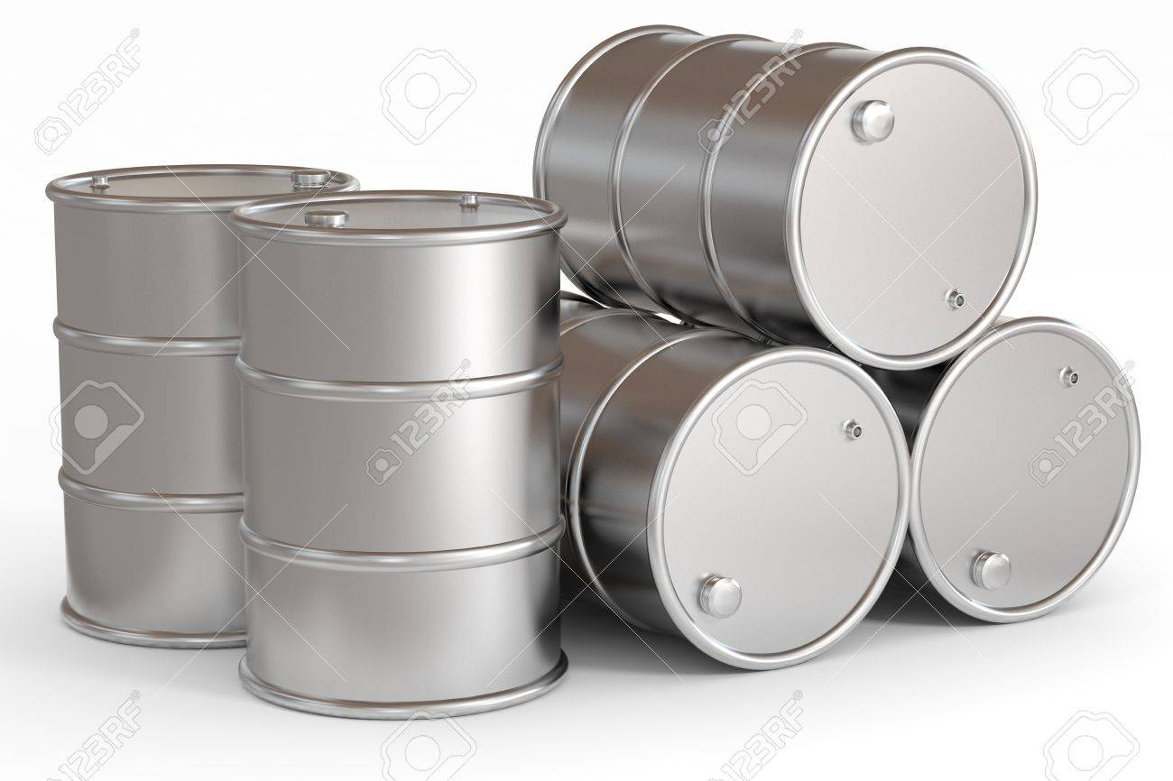 Oil barrels.  Computer generated image. Stock Photo - 12835205
