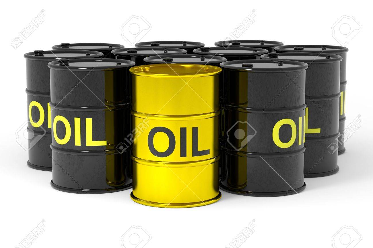 Oil barrels.  Computer generated image. Stock Photo - 12835201