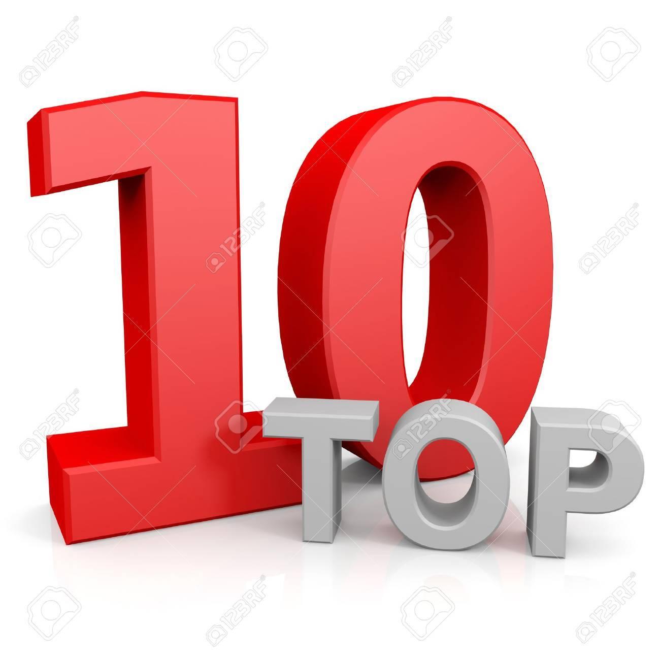 Top ten. Computer generated image. Stock Photo - 12835081