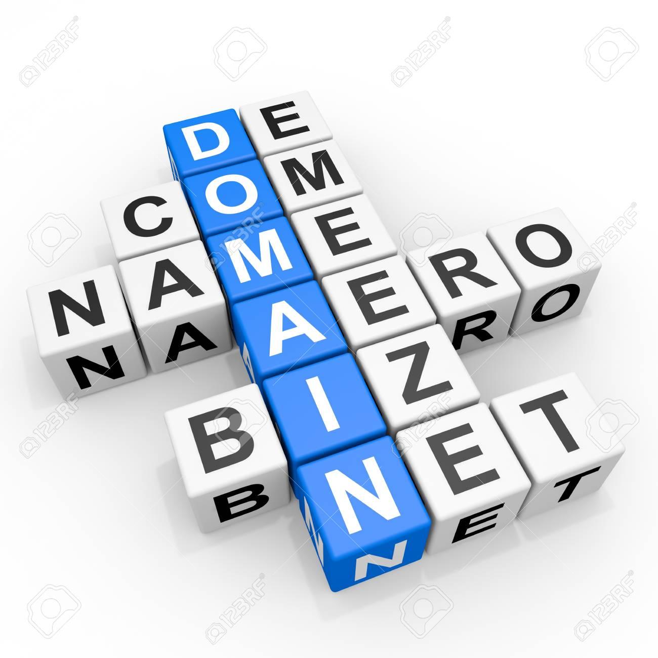 DOMAIN crossword. Computer generated image. Stock Photo - 12839049