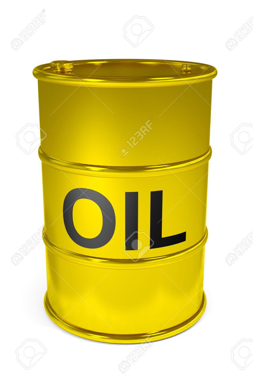 Golden oil barrel.  Computer generated image. Stock Photo - 13024046