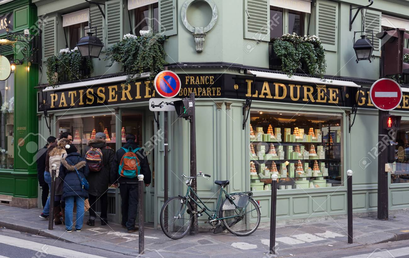 The famous French luxury bakery and sweets shop La Duree in Saint