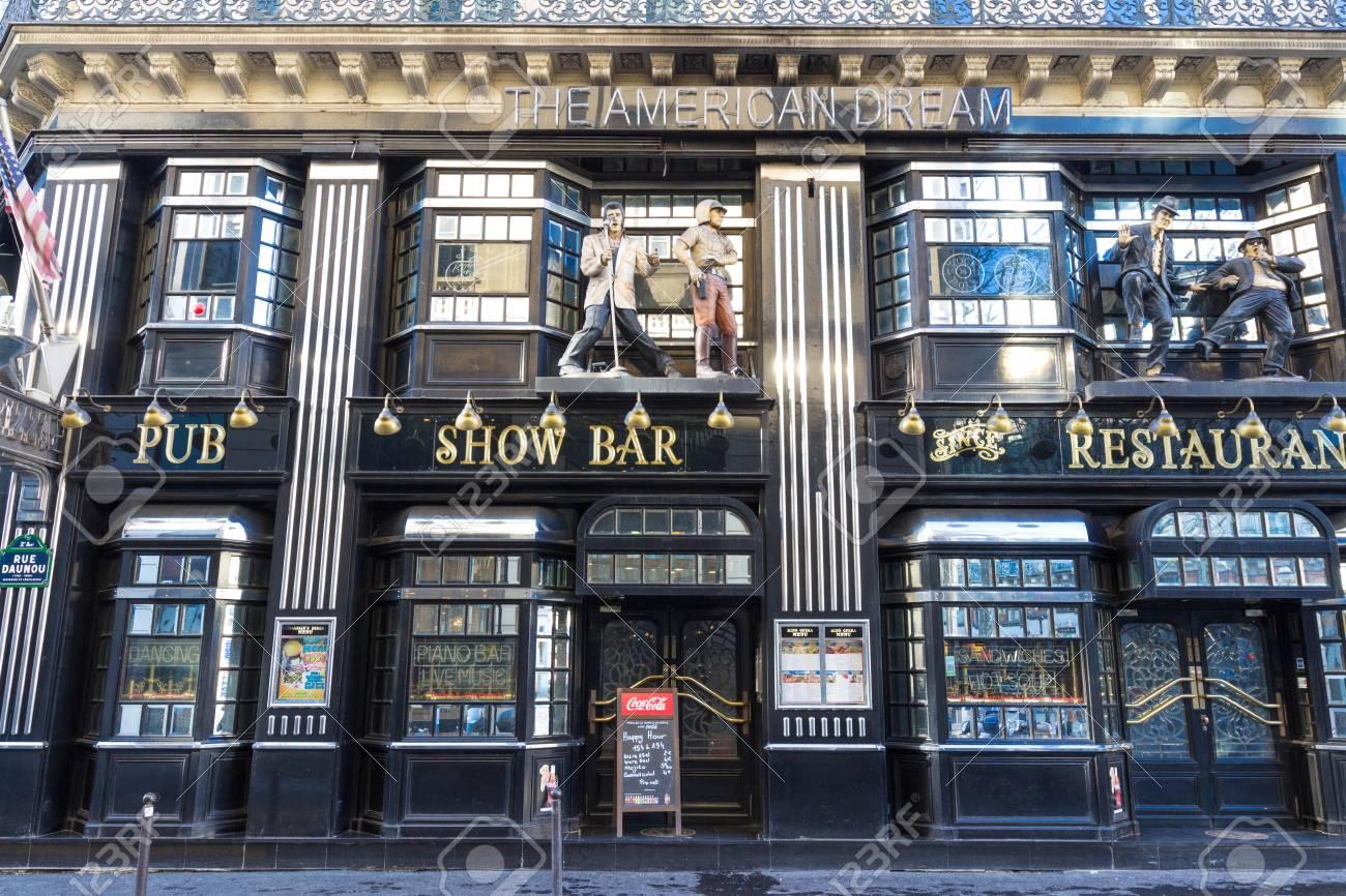 The Restaurant Famous American Dream, Near Opera District, Paris ...