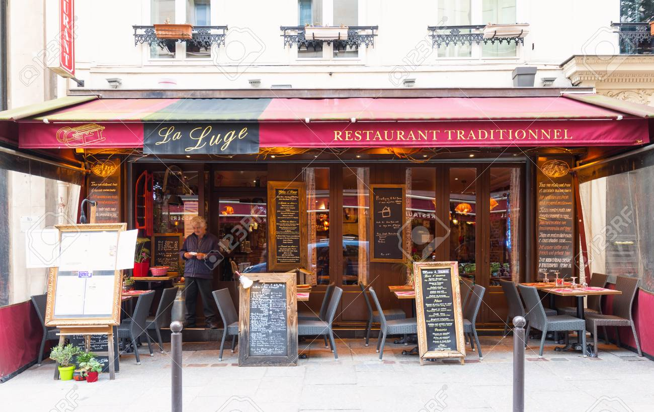 The Traditional French Restaurant La Luge Located Near Saint Stock