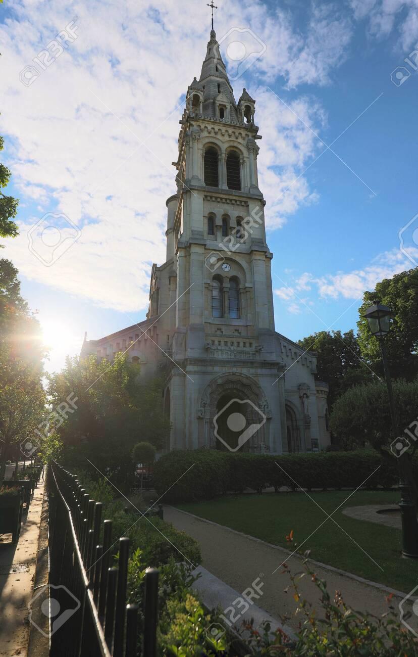 The Gothic Catholic Saint Pierre Church In Neuilly Sur Seine