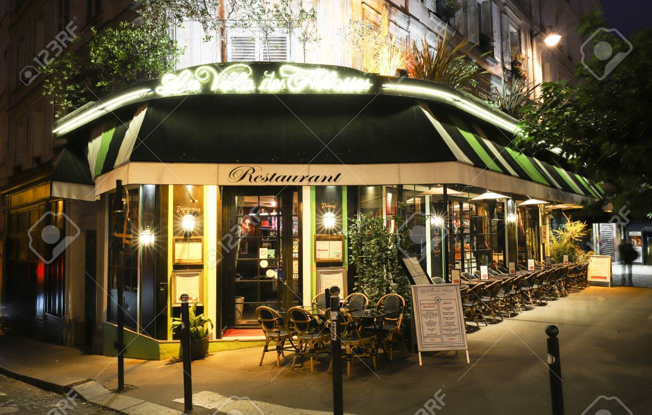 The Famous Restaurant Villa Abesses At Night It Is Located Stock Photo Picture And Royalty Free Image Image 141651869