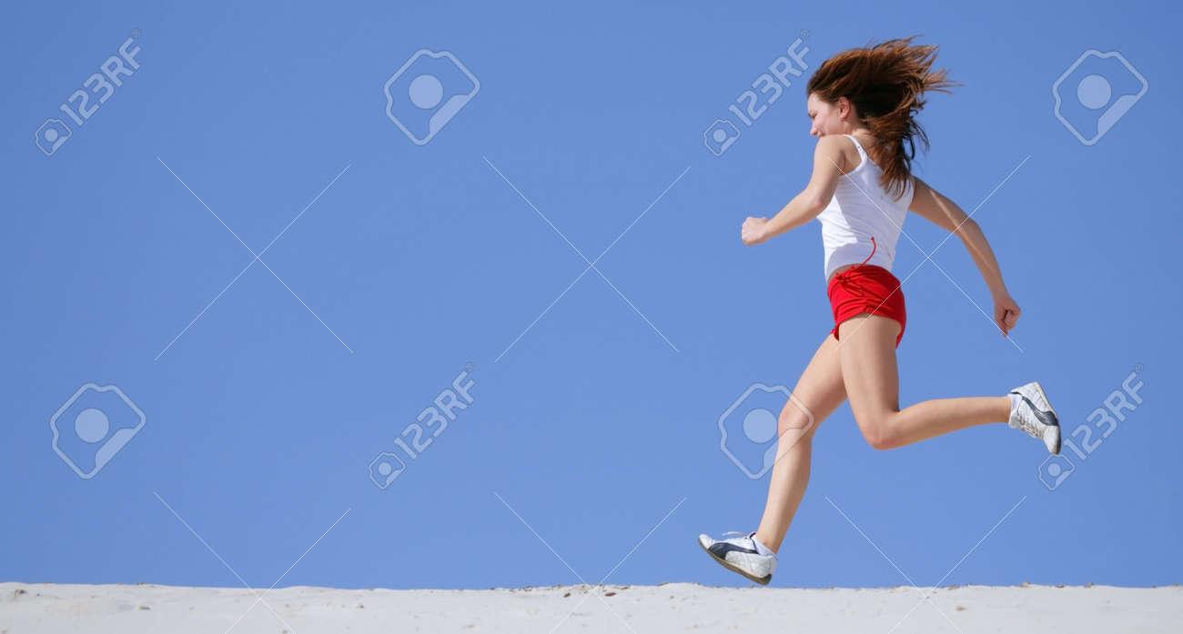 girl runs Stock Photo - 1165924