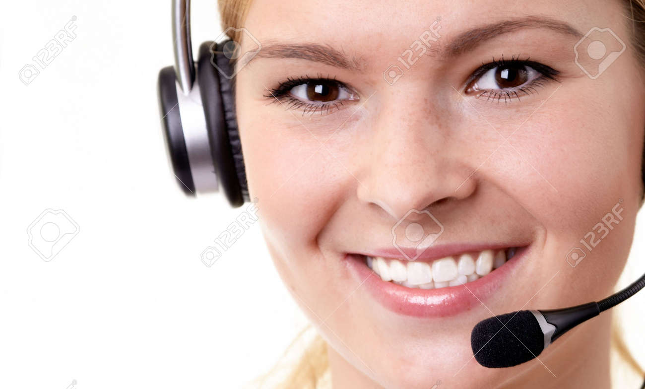 woman operator Stock Photo - 5562984